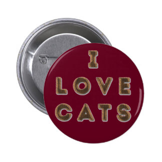 Furry 'I Love Cats' Standard, 2¼ Inch Round Button