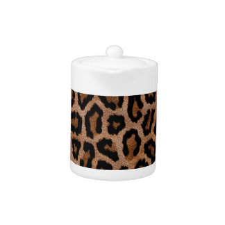 Furry Leopard Animal Print Teapot