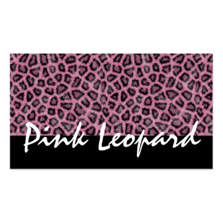 Furry Leopard Print, Wild Animal - Leopard Pink Double-Sided Standard Business Cards (Pack Of 100)