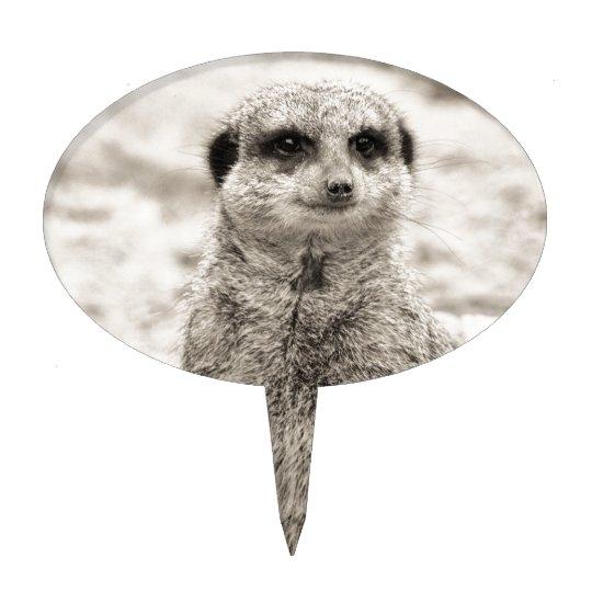 Furry Little Meerkat Cake Topper