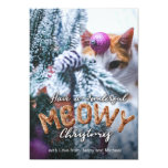 Furry Meowy Christmas Fun Typography Christmas Card