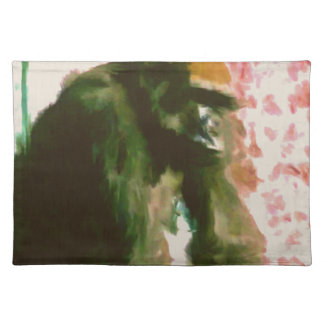 Furry Monkey Cloth Placemat