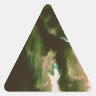 Furry Monkey Triangle Sticker
