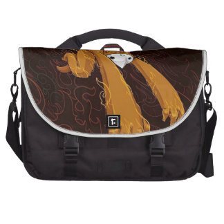 Furry Monster Funny Photo Colorful Design Laptop Commuter Bag