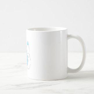 furry classic white coffee mug