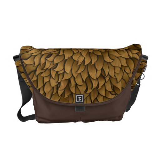 Furry Pattern Bag Courier Bag