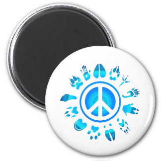 furry peace4 2 inch round magnet
