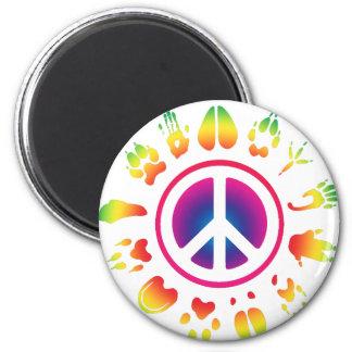 furry peace fridge magnets