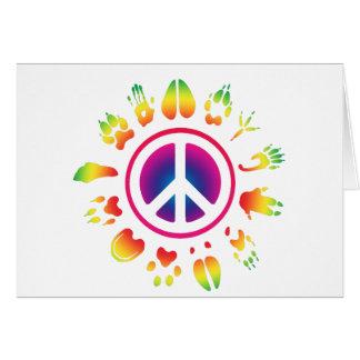 furry peace greeting card