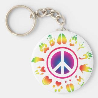 furry peace keychain