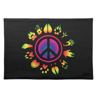 furry peace cloth placemat
