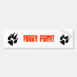 Furry Pride Pawprint Bumper Sticker