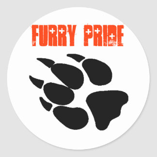Furry Pride Pawprint Sheet Of Stickers