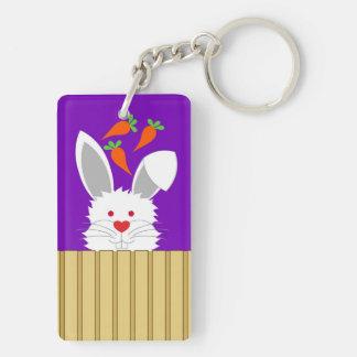 Furry Rabbit Key Chain