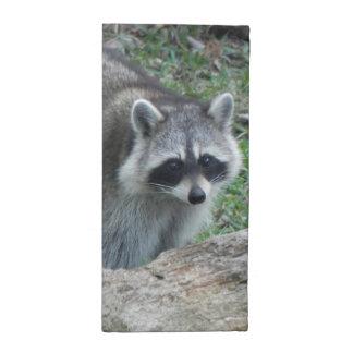 Furry Raccoon Photo Napkin