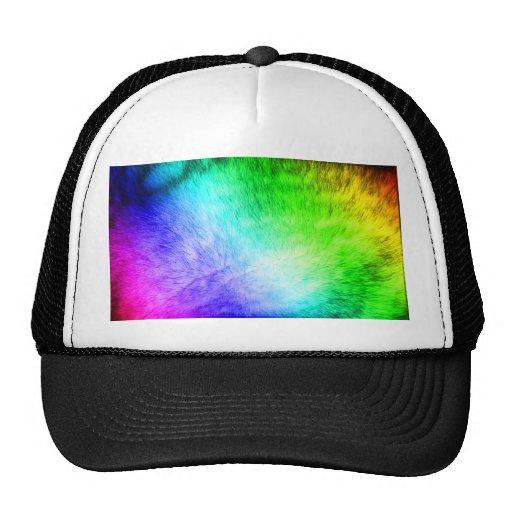 Furry Rainbow Trucker Hat