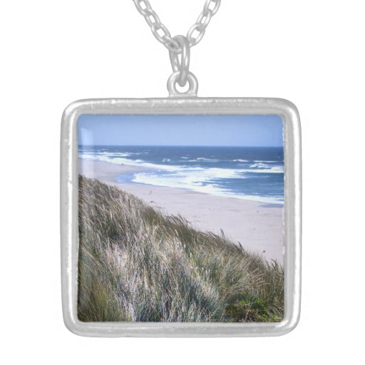 Furry Sand Dunes Personalized Necklace