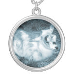 Furry small blue goat doeling baby right jewelry