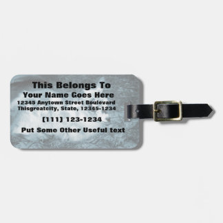 Furry small blue goat doeling baby right luggage tags