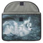Furry small blue goat doeling baby right sleeve for MacBook pro