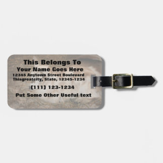 Furry small goat doeling baby luggage tag