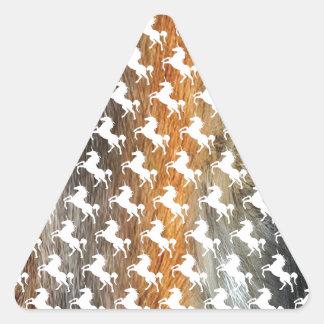 Furry Unicorns Triangle Sticker