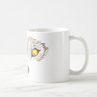 Furry wolf face coffee mug