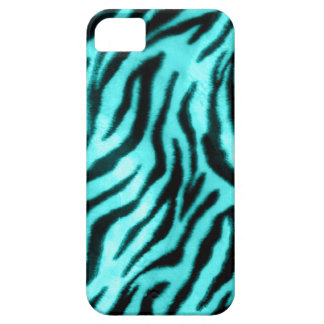 Furry Zebra Blue iPhone 5 Cases