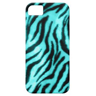 Furry Zebra Blue iPhone SE/5/5s Case