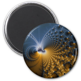 Further - Fractal Art 2 Inch Round Magnet