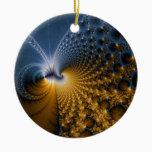 Further - Fractal Art Ceramic Ornament