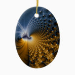 Further - Fractal Art Ceramic Ornament