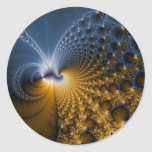 Further - Fractal Art Classic Round Sticker