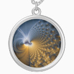 Further - Fractal Art Silver Plated Necklace