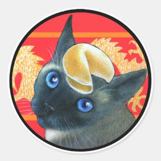 Furtune Cookie Siamese Cat Sticker