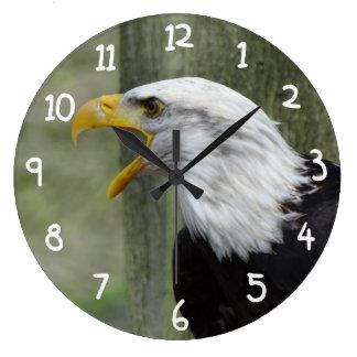 Fury Bald Eagle Clock