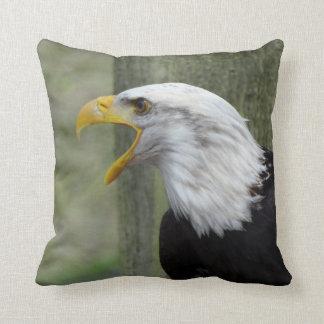 Fury Bald Eagle Pillow