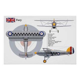 Fury Mk I 43 Squadron Poster