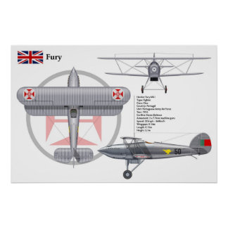 Fury Mk I Portugal Poster