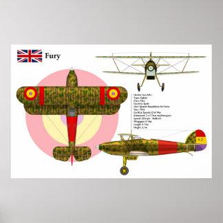 Fury Mk I Spain Rep Poster