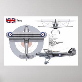 Fury Mk II 25 Squadron Poster