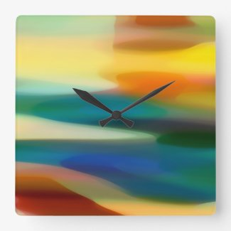 Fury Seascape Square Wall Clocks