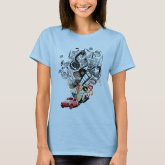 Fusca print Backward T-Shirt