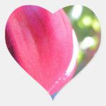 Fuschia agrietado pegatinas de corazon