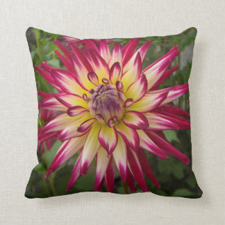 Fuschia and Yellow Flower Pillow
