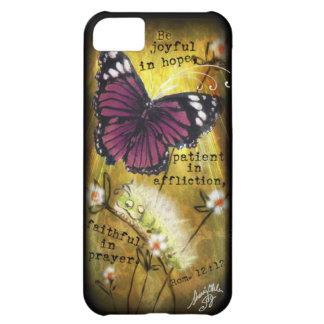 Fuschia Butterfly & Caterpillar 'JO' IPhone Case iPhone 5C Case