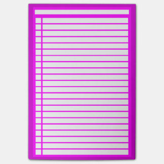 Fuschia Checklist Post-it Notes