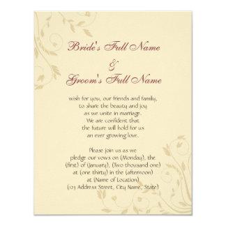 Fuschia Daffodils and Wheat Card