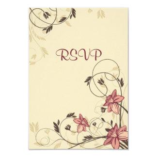 Fuschia Daffodils and Wheat RSVP Card