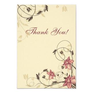 Fuschia Daffodils and Wheat Thank You Card